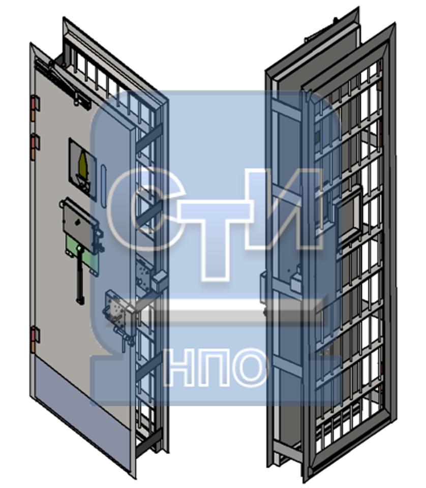Блок дверной карцерный