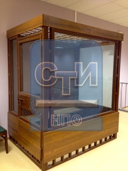 Кабина изолирующая для подсудимых (4 места)