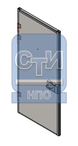 Блок дверной металлический усиленный, с глазком, замком камерным одностворчатый