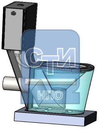 Унитаз напольный с бачком из нержавеющей стали