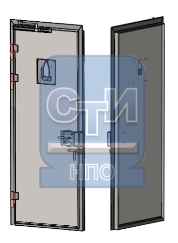 Блок дверной камерный без окна для передачи пищи