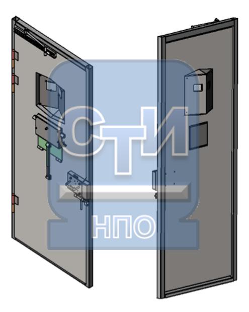 Блок дверной режимный камерный с глазком панорамного обзора