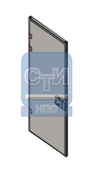 Дверь металлическая усиленная с замком камерного типа одностворчатая, с замком камерного типа