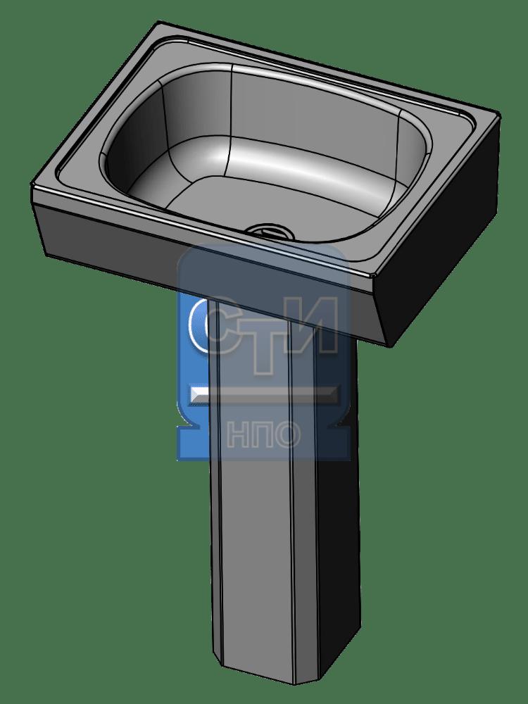 СТИ.РНП.01 - Раковина настенная с пъедесталом антивандальная