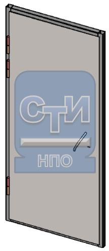 СТИ.БДМУ.ЗМ.01.000 - Блок дверной металлический усиленный одностворчатый, с замком механического типа (замок типа «Цербер»)