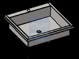 СТИ.РНН.03 - Раковина настенная антивандальная с держателем для полотенца