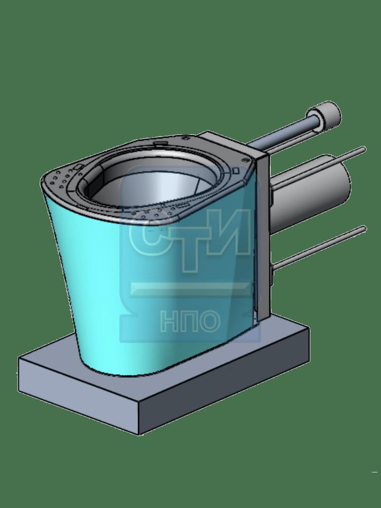 СТИ.УН.04 - Унитаз антивандальный с бачком инсталляцией