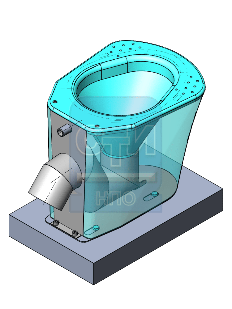 СТИ.УН.02 - Унитаз антивандальный из нержавеющей стали без бачка с резьбовым подключением