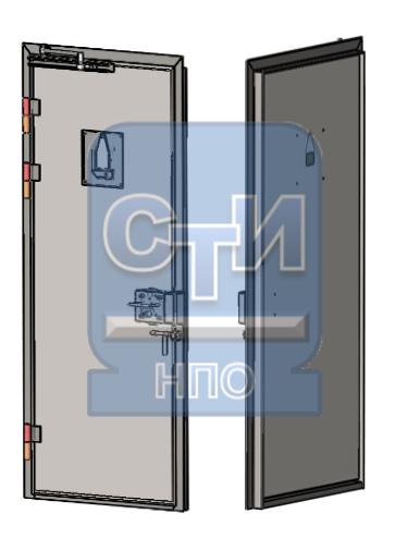 СТИ.БДК.02.00 - Блок дверной камерный без окна для передачи пищи