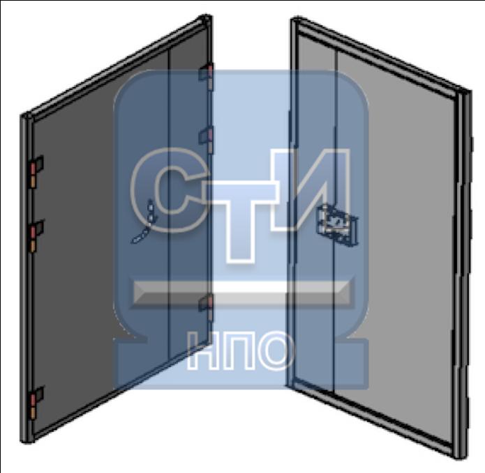 СТИ.БДМУ.ЗК.02.000 - Блок дверной металлический усиленный двустворчатый с замком камерного типа